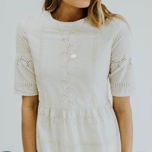Roolee ivory dress size L